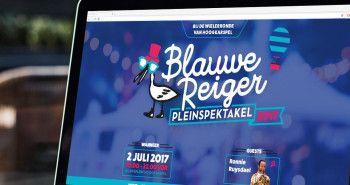 One-page website voor het Blauwe Reiger Pleinspektakel in Hoogkarspel