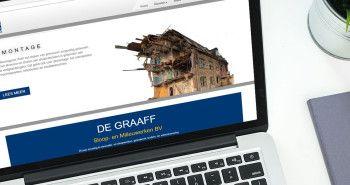 Responsive website De Graaff Sloopwerken uit Amsterdam