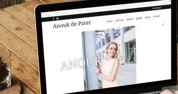 Responsive website voor Presentatrice / Actrice / Zangeres en Musicalster Anouk de Pater