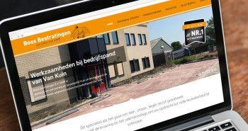 SEO geoptimaliseerde responsive website voor Boos Bestratingen uit Wervershoof