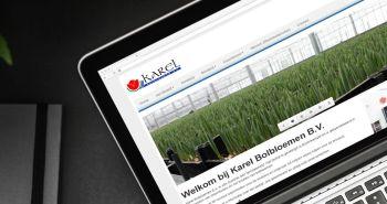 SEO geoptimaliseerde responsive website voor Karel Bolbloemen B.V. uit Bovenkarspel