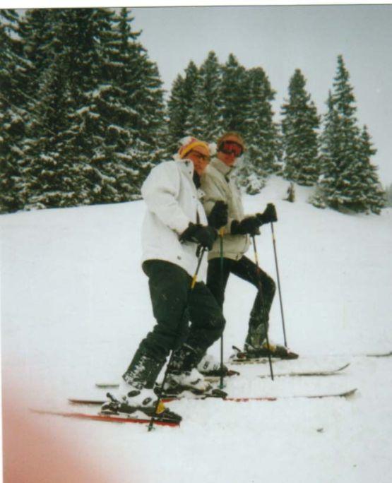 2002 - Simon & Piet tijdens winterport via het Horizon College