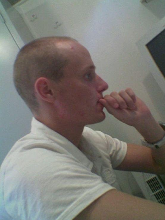 2005 - Piet aan het werk aan de Streekweg